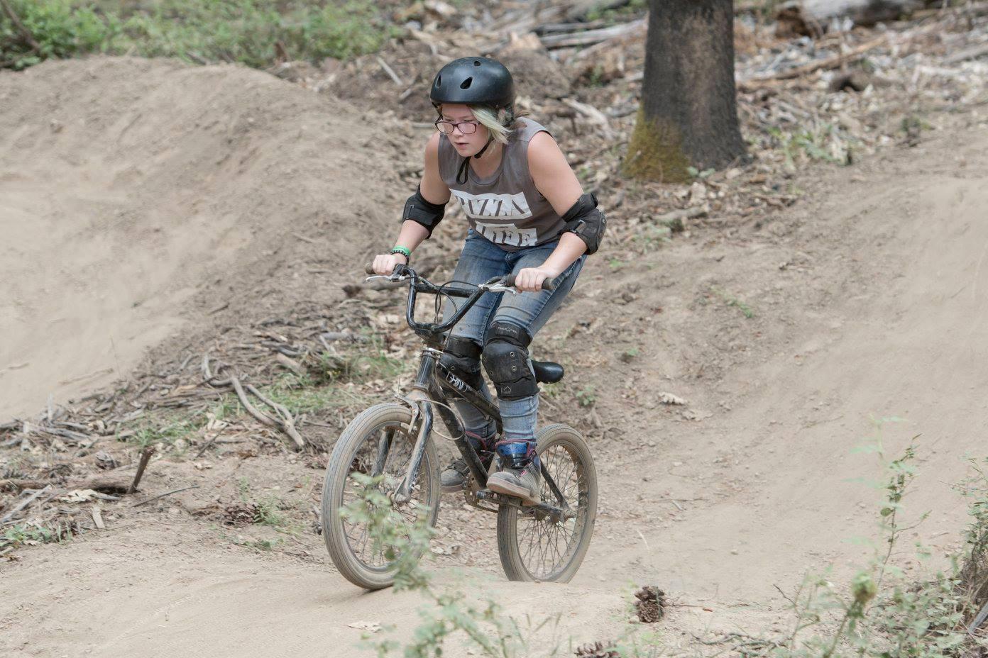 Girl on Dirt Bike